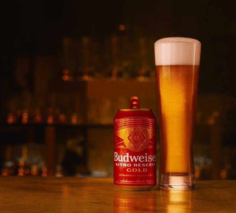 Budweiser Nitro Reserve Gold Beer