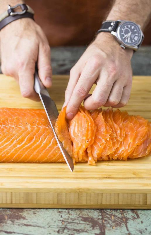 Citrus Cured Salmon Gravlax