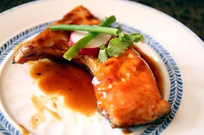 Grilled Teriyaki Salmon Jaw