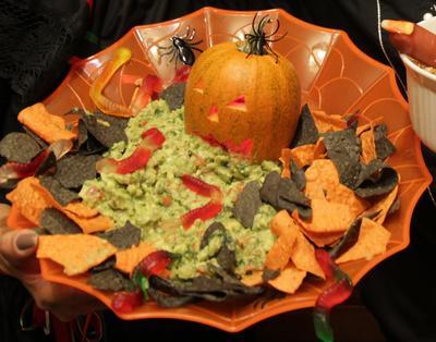 Guacamole Puking Pumpkin