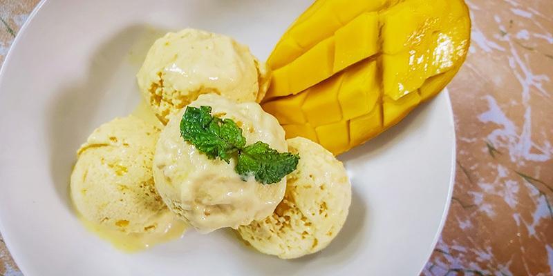 Homemade Mango Icecream Without Egg (only 3 Ingre)