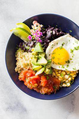 Huevos Rancheros Quinoa Power Bowls