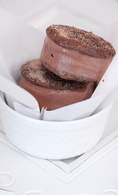 Mexican Chocolate And Cinnamon Ice-Cream Sandwich