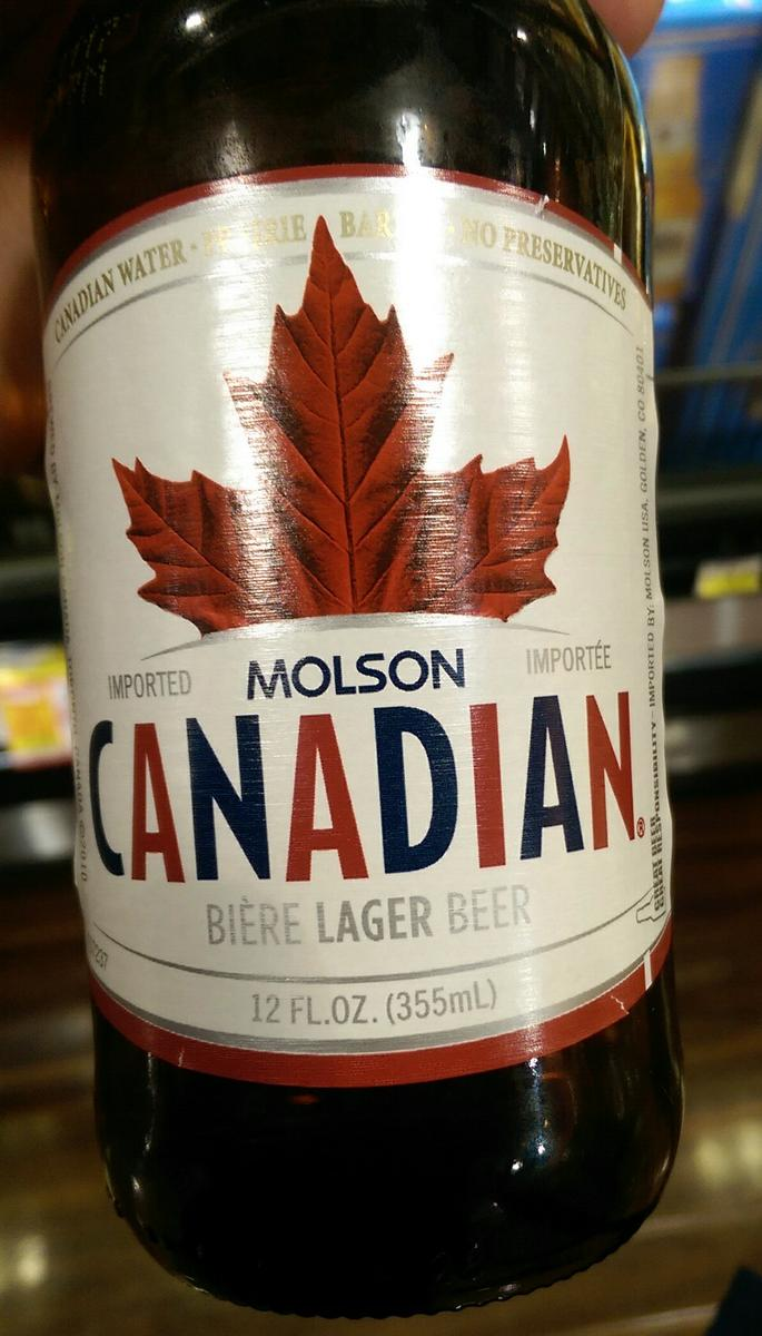 Molson Canadian Lager Beer
