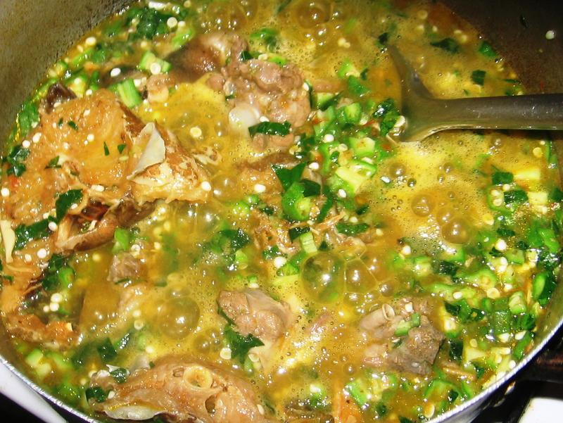 Okra Vegetable Soup