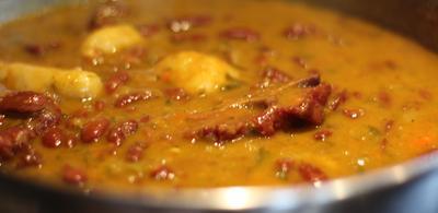 Peas And Dumpling Soup