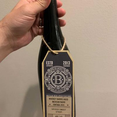 Whiskey Barrel-aged Double Mexican Radio Beer